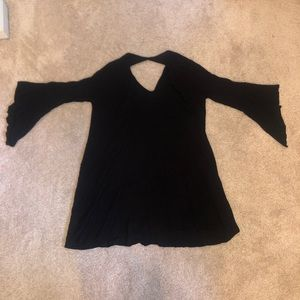 LUSH half-sleeves bell top with cut out back (XS)